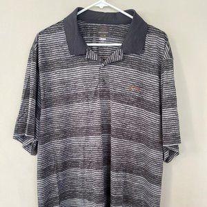 Greg Norman Polo Golf Shirt XXL 2XL Gray Striped